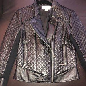 Michael Kors Leather Black Jacket Sz S (2-4)